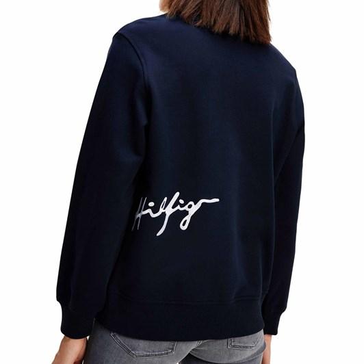Tommy Hilfiger Regular Crew Neck Script Sweatshirt