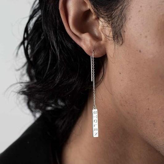 Stolen Girlfriends Club Falling Bar Earrings