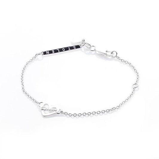 Stolen Girlfriends Club Heart Script Bracelet