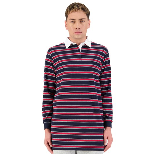 Huffer Grammer L/S Rugby Polo