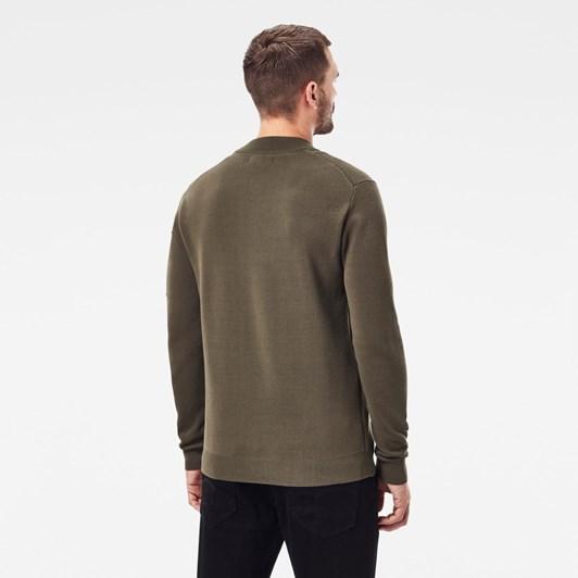 G-Star Sleeve Pocket Half Zip Knit L\S