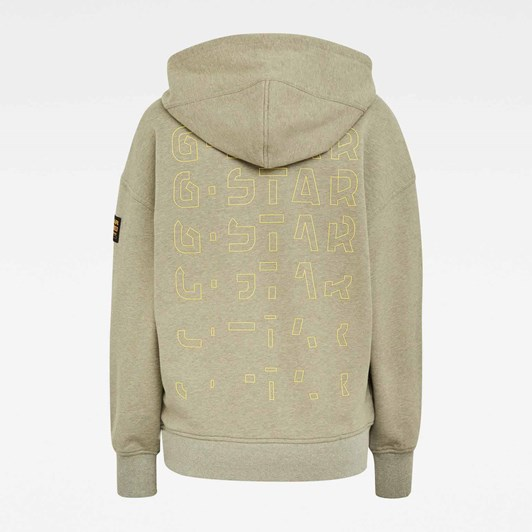 G-Star Loose Fit Faded Back Graphic Hoodie