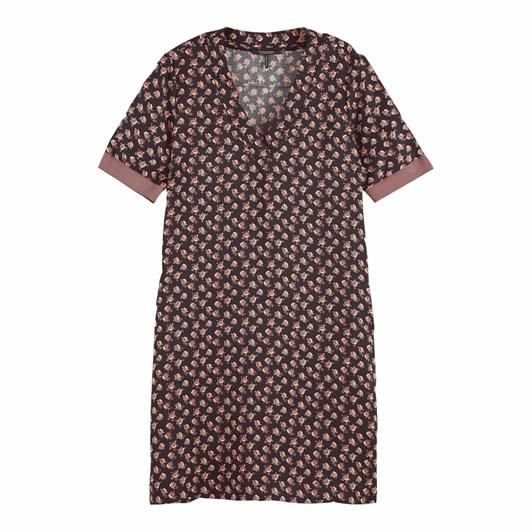 Maison V-Neck Dress W/ Ribs
