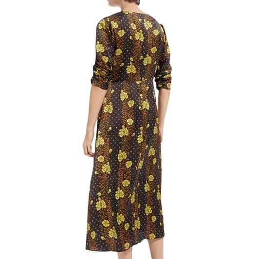 Maison Midi Length Printed Dress