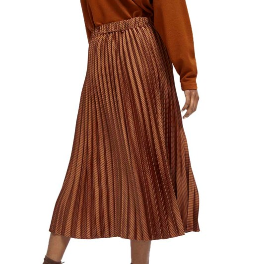 Maison Pleated Midi Length Skirt