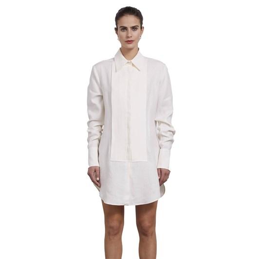 Wynn Hamlyn Linen Dinner Shirt Dress
