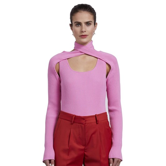 Wynn Hamlyn Loop Layered Knit Top