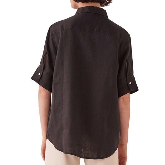 Assembly Label Womens Short Sleeve Shirt - Black