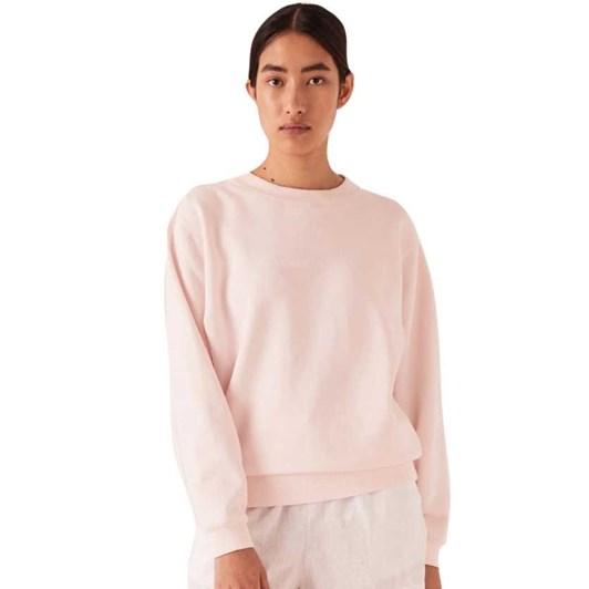 Assembly Label Logo Fleece Womens - Pink Dew/White