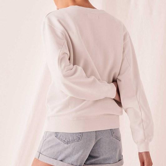 Assembly Label Logo Fleece Womens - Silver Grey/White