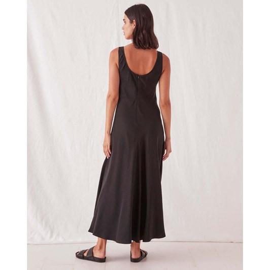 Assembly Label Ivy Scoop Neck Dress - Black