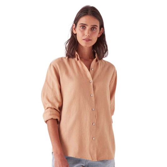 Assembly Label Xander Long Sleeve Shirt - Taupe
