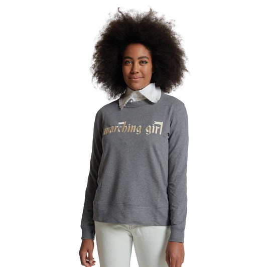 Karen Walker Embroidered Marching Girl Slogan Sweatshirt