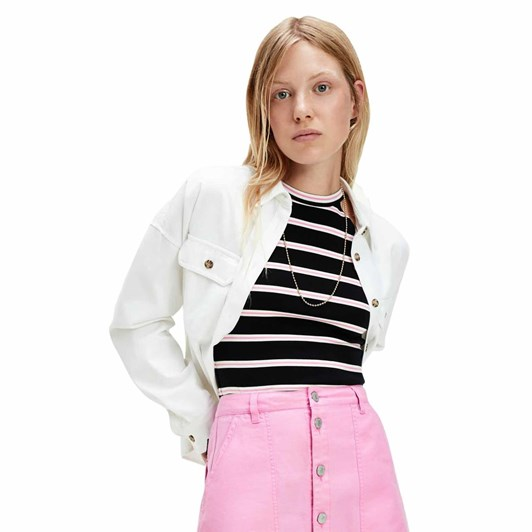 Tommy Jeans Cropped Utility Shirt