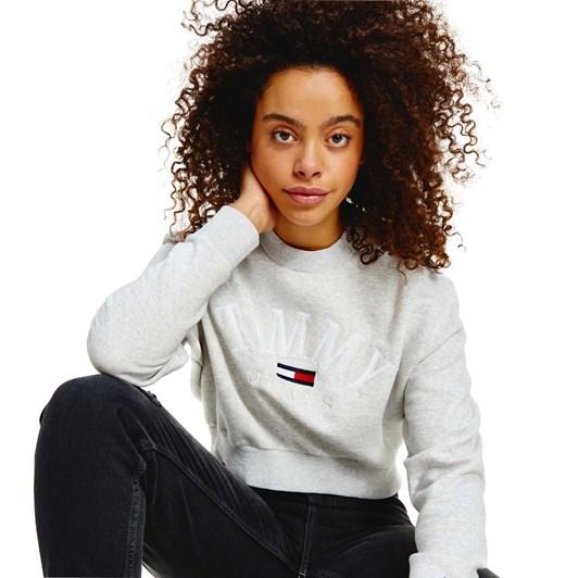 Tommy Jeans Crop College Logo Sweatshirt