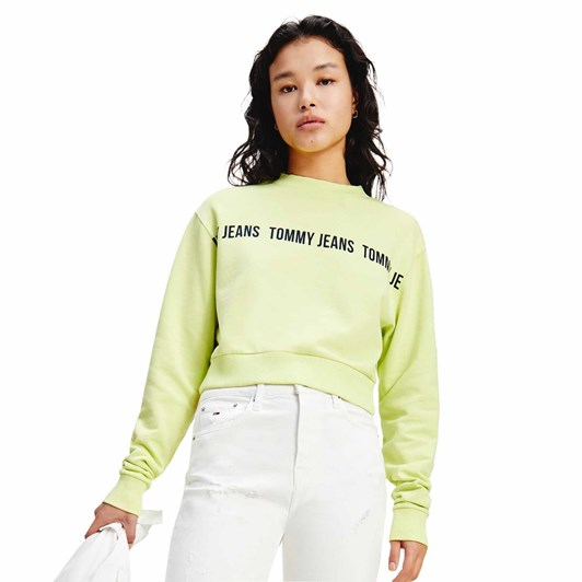 Tommy Jeans Regular Cropped Tape Crew
