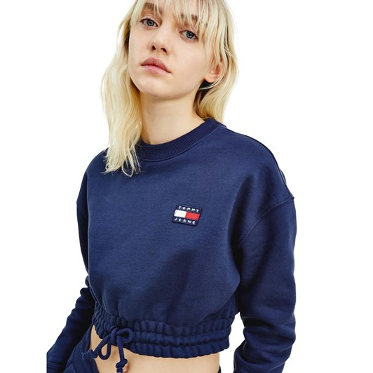 Tommy Jeans Super Cropped Badge Crew