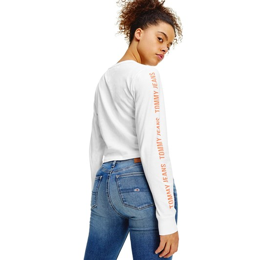 Tommy Jeans Crop Tape L/S Tee