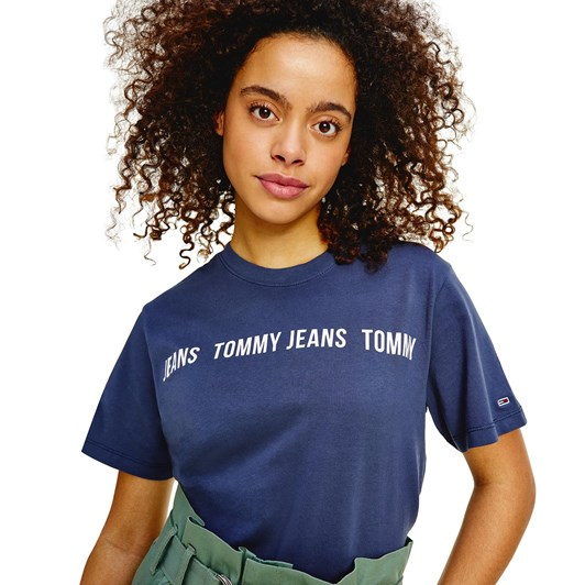 Tommy Jeans Boxy Crop Tape S/S Tee