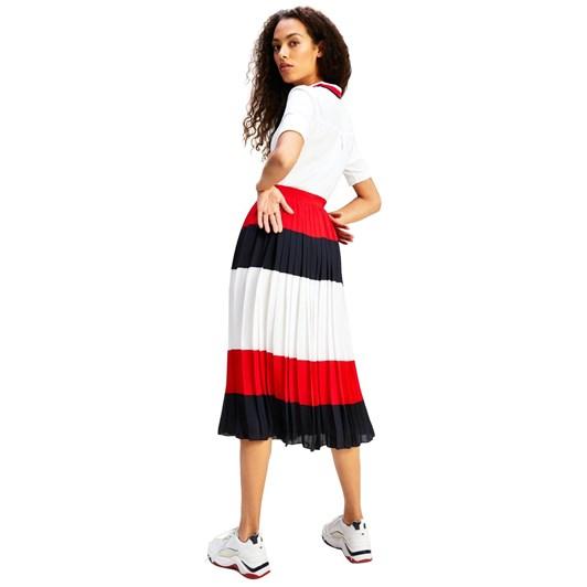 Tommy Hilfiger Crepe Pleated Midi Skirt