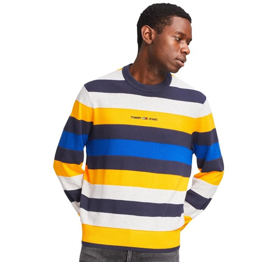 Tommy Jeans Small Text Stripe Sweater