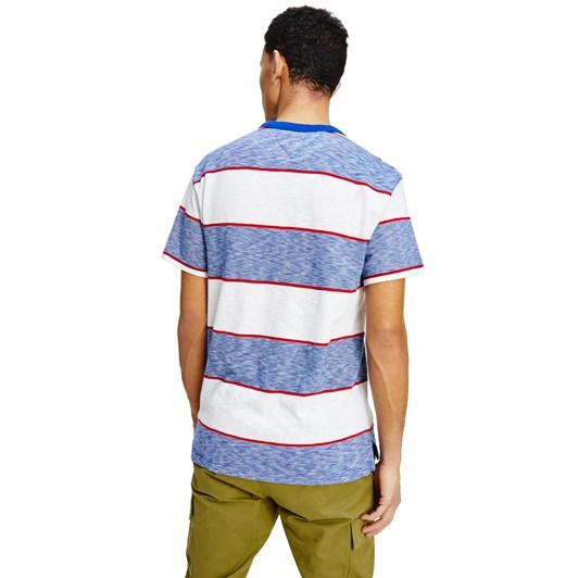 Tommy Jeans Stripe Linear Logo Tee