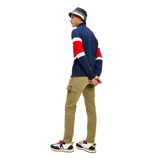 Tommy Jeans Colorblock Mock Neck Sweater