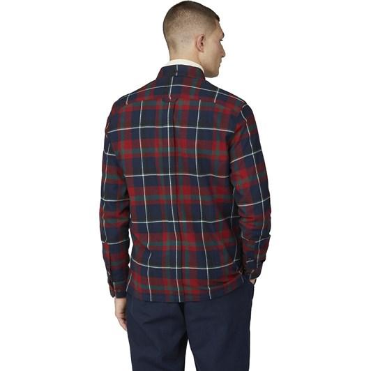 Ben Sherman Oversized Brushed Tartan Shirt