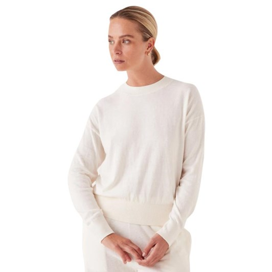 Assembly Label Cotton Cashmere Lounge Sweater Antique White