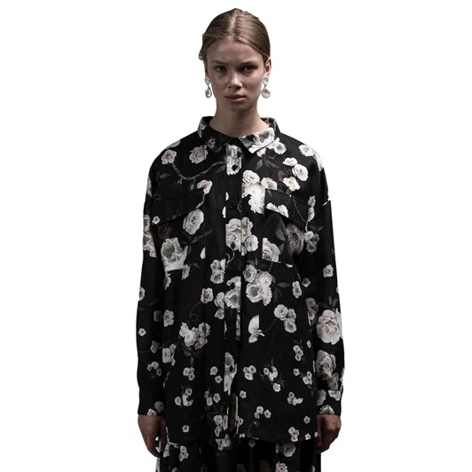 Salasai Stone Roses Linen Shirt