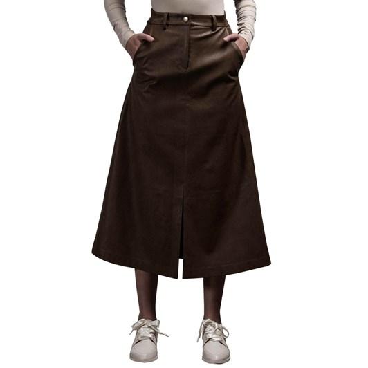 Salasai Love & Thorns Vegan Leather Skirt