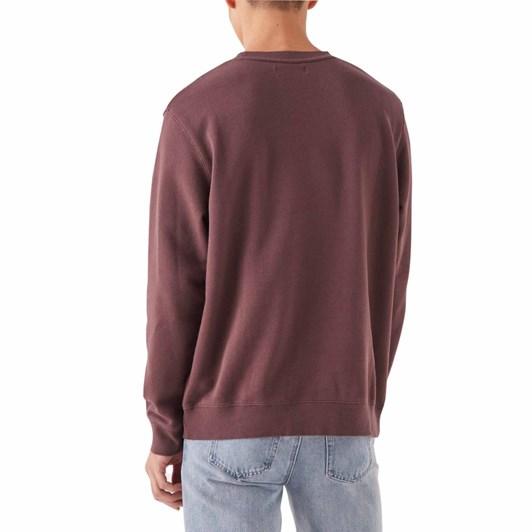 Assembly Label Logo Fleece Pullover Damson White
