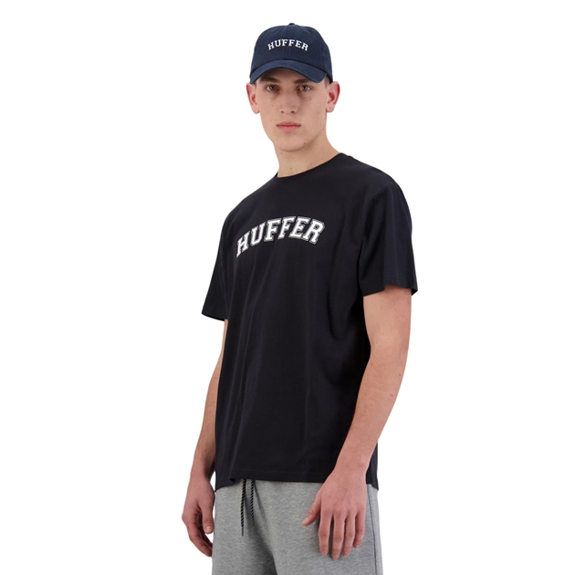 Huffer Mens Sup Tee/Drop Out - navy