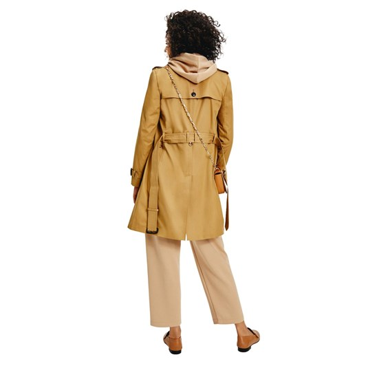 Tommy Hilfiger Cotton Blend Double Breasted Trench Coat
