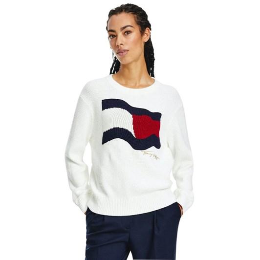 Tommy Hilfiger Organic Cotton Flag Crew Neck Sweater