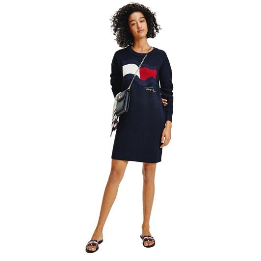 Tommy Hilfiger Motion Flag Knee Length Dress