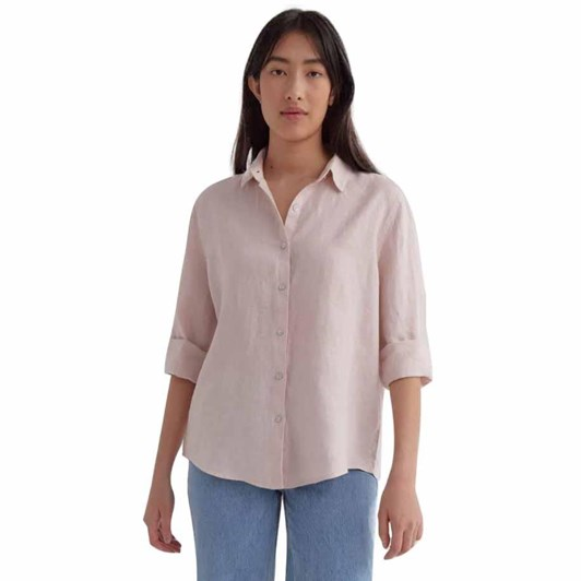 Assembly Label Xander Long Sleeve Shirt Pink Clay