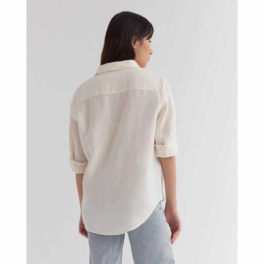 Assembly Label Xander Long Sleeve Shirt Vanilla