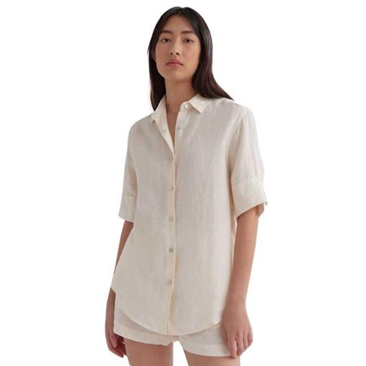 Assembly Label Womens Short Sleeve Shirt Vanilla