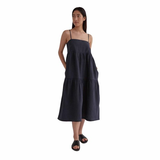 Assembly Label Willow Linen Dress True Navy