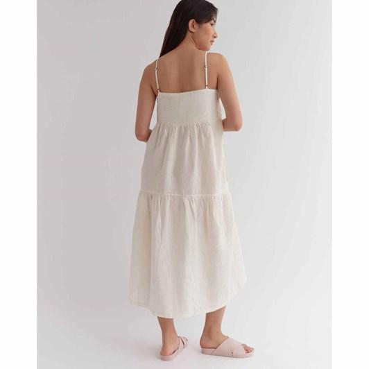 Assembly Label Willow Linen Dress Vanilla
