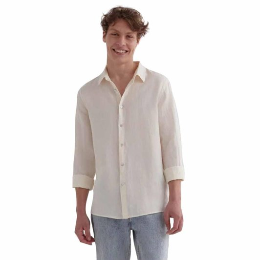 Assembly Label Casual Long Sleeve Shirt Vanilla