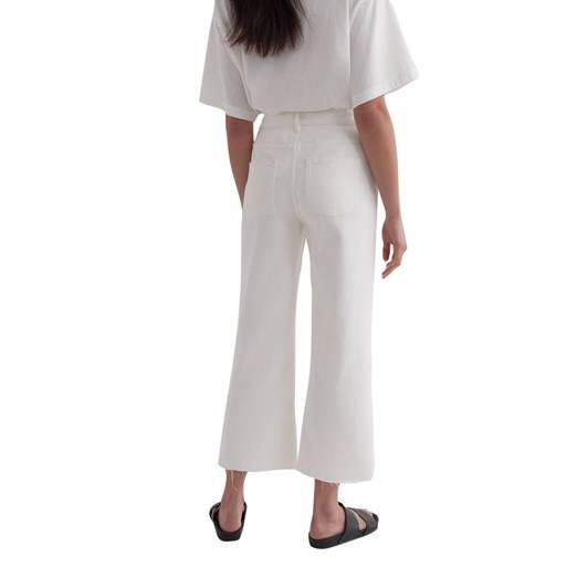 Assembly Label High Waist Cropped Jean Antique White