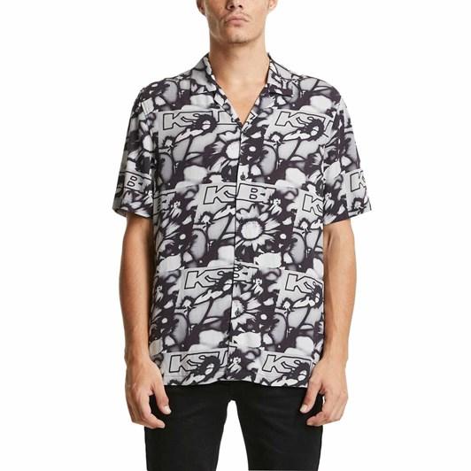 Ksubi UV Flower Resort S/S Shirt Greyscale
