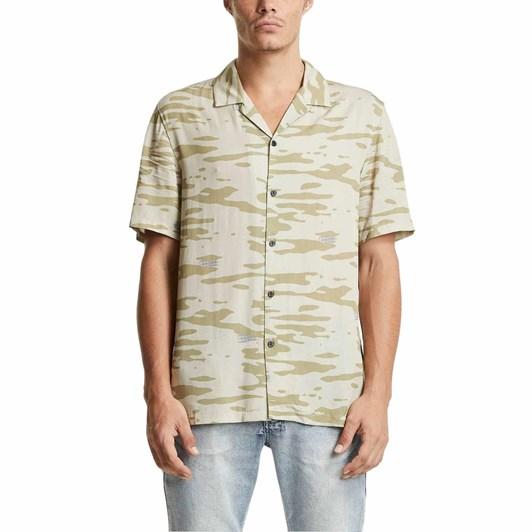 Ksubi Camo Blur Resort S/S Shirt Multi