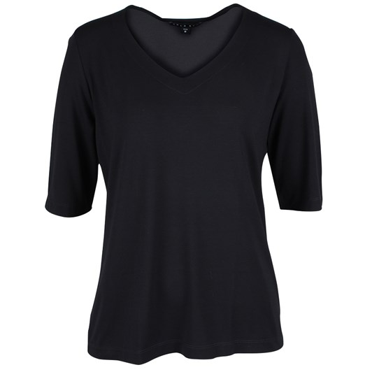 Paula Ryan Essentials Easy Fit Half Sleeve V Neck Top