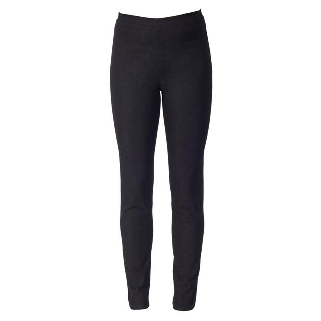 Vassalli Full Length Denim Leggings - black