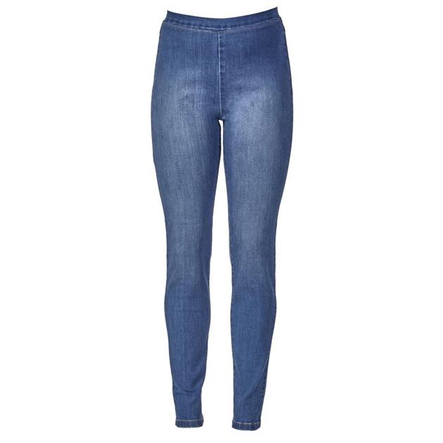Vassalli Full Length Denim Leggings - new blue