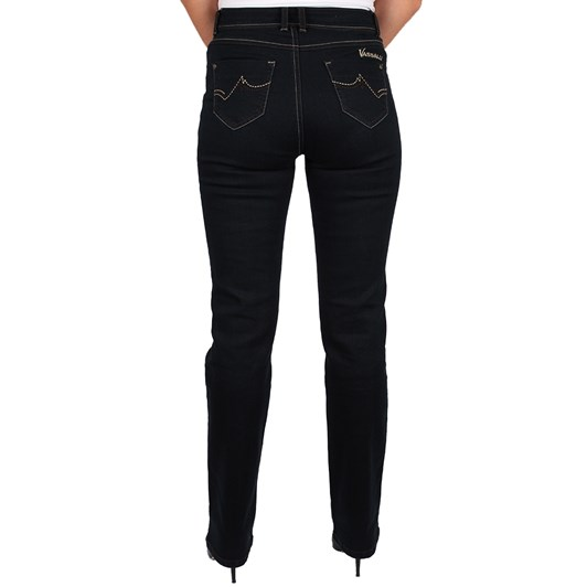 Vassalli Straight Leg With Silver Stitching Denim