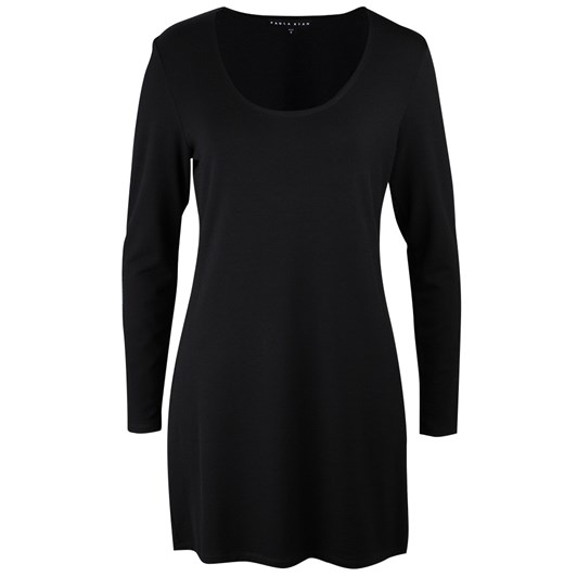 Paula Ryan Merino Scoop Neck Long Top